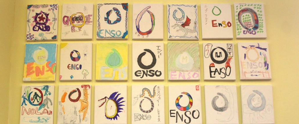 "Creating ""Enso"" Art at Summer Camp"